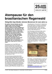Atempause für den brasilianischen Regenwald ... - Greenpeace