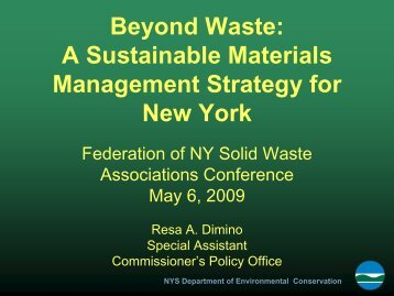 Beyond Waste - Home for the New York Federation of Solid Wast ...