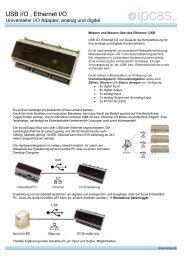 """USB zu I/O, Ethernet zu I/O Erweiterung"", analog und ... - ipcas GmbH"