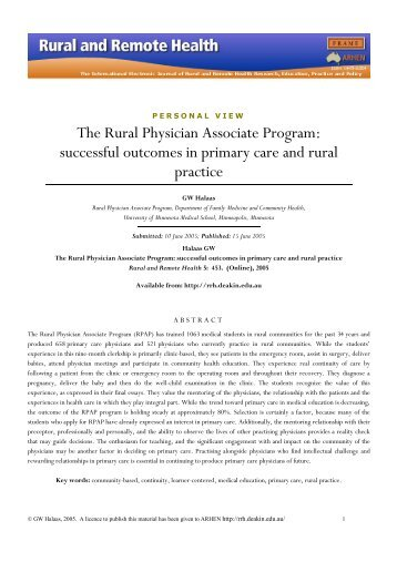 view a printable version rural and remote health journal