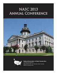 2013 NASC Annual Conference: Onsite Program - NASACT