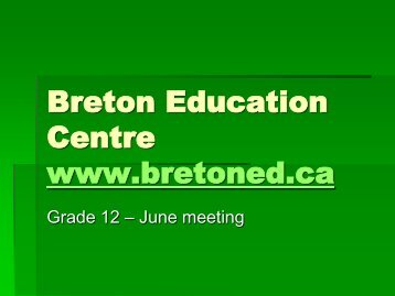 Breton Education Centre's