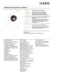 L60260FL Waschmaschine Frontlader - Ing. Harald Blaha