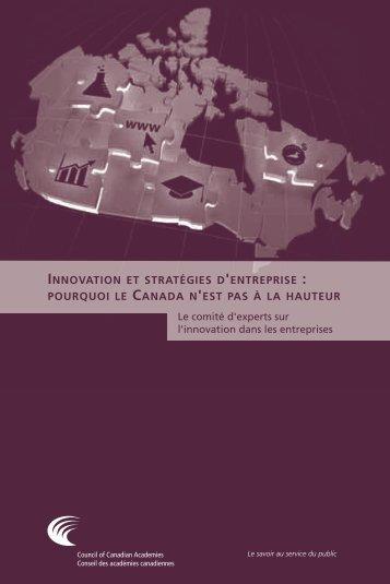 Innovation et stratégies d'entreprise - Conseil des académies ...