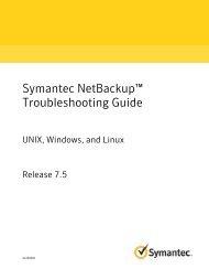 Symantec NetBackup™ Troubleshooting Guide: UNIX ... - Zedat