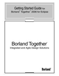 Borland Together Edition for Eclipse - Borland Technical Publications