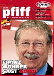 PFIFF Ausgabe Nr. 3 - 2010 - Schiri.at