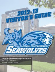 VISITOR'S GUIDE - Sonoma State University Athletics