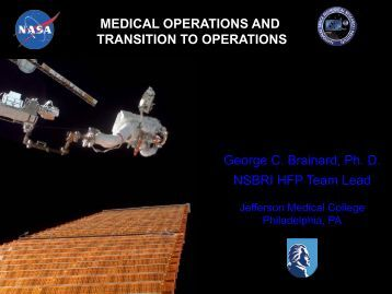 Medical Operations and Transition to Operations
