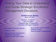 Using Your Data to Guide Strategic Enrollment Decisions - AACRAO