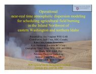 Atmospheric dispersion modeling for scheduling agricultural field ...