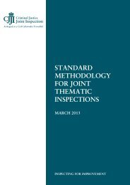 standard methodology for joint thematic inspections - HMCPSI