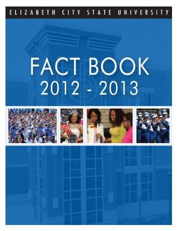 Fact Book 2012-2013 - Elizabeth City State University