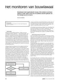 het artikel - Cauberg-Huygen Raadgevende Ingenieurs BV