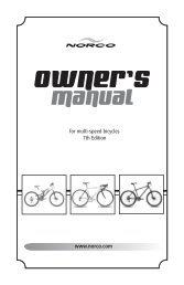 for multi-speed bicycles 7th Edition www.norco.com