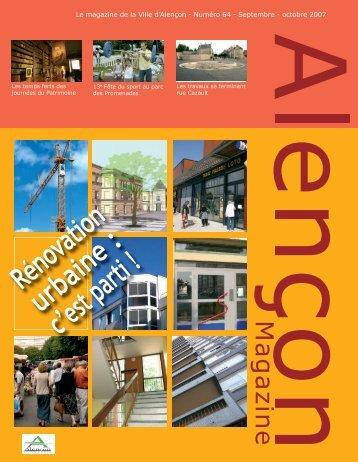Le magazine de la Ville d'Alençon - Numéro 64 - Septembre