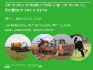 Ammonia emission field-applied manure, fertilizers and grazing - Inra