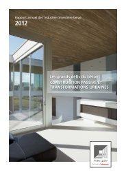 Rapport annuel de l'industrie cimentière belge 2012 - Febelcem