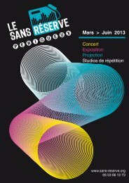programme - Le Sans Réserve