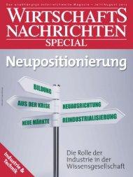 Ausgabe 07/2013 Wirtschaftsnachrichten Special: Industrie & Technik