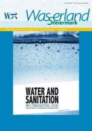 Die Wasserzeitschrift der Steiermark 1/2008 - Wasserland Steiermark