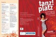 tanz!platz Info-Folder als PDF herunterladen - Kubiss.de