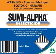 Sumi Alpha Aluminium 1L Label - Nufarm