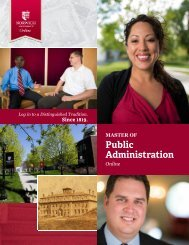 to download the brochure - Master of Public Administration