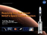 Reaching The Red Planet: NASA's Space Launch System