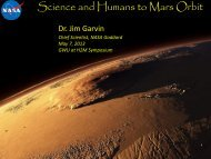 Science Objectives_James Garvin_Science and Humans to Mars Orbit