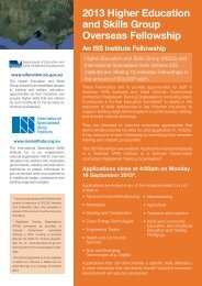 Higher Education and Skills Group International Fellowship