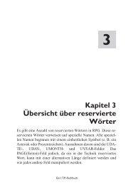 pitel 3 vierte örter Kapitel 3 Übersicht über reservierte Wörter