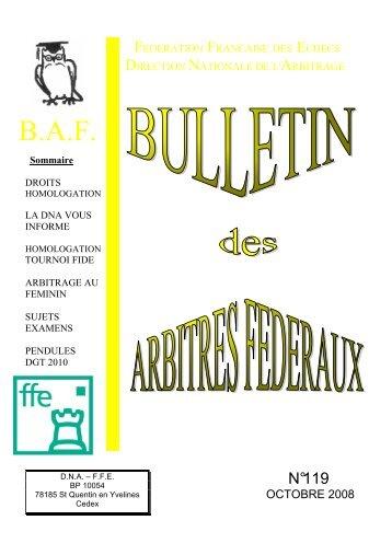 BAF 119 - Fédération Française des Échecs