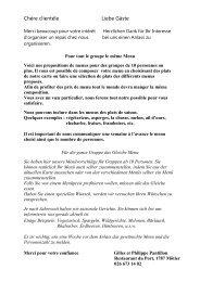 Propositions de Menus au Restaurant du Port - Gate24.ch
