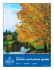 course curriculum guide - Charlotte Christian School