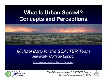 What Is Urban Sprawl? Concepts and Perceptions - UCL