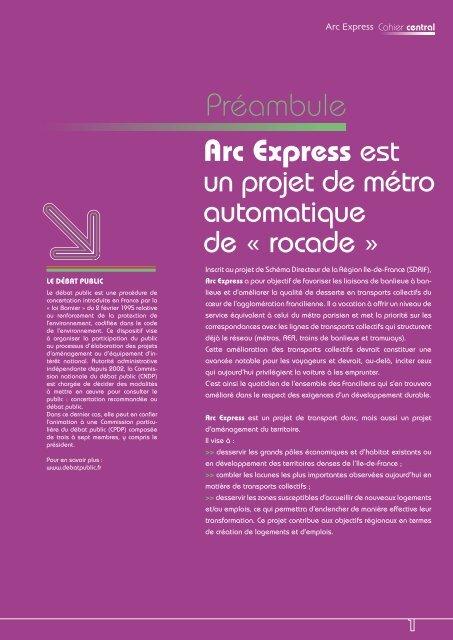 Préambule - Débat Public Arc Express