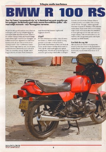 Motor emotion - R100rs - Natuurlijk