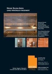 heisse sauna-ideen ganz persönlich inszeniert - Gate24.ch