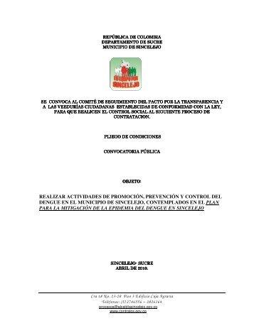 Descargar INVITACION PUBLICA PARA EL PROCESO ... - Sincelejo