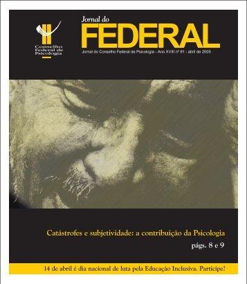 Jornal do Jornal do Catástrofes e subjetividade - Início - Conselho ...