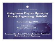 Zintegrowany Program Operacyjny Rozwoju Regionalnego 2004 ...