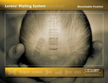 Lorenz® Plating System LactoSorb® - Ortomedic