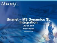 SL Interface Presentation - Unanet Technologies