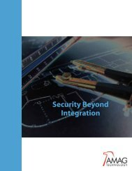 Security Beyond Integration - AMAG
