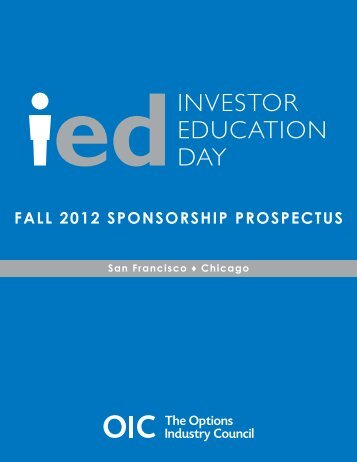 IED 2012 Prospectus - The Options Industry Council