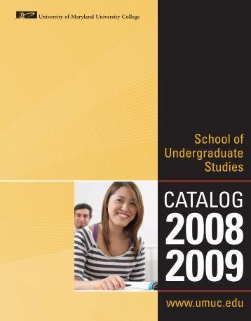 CATALOG - University of Maryland University College