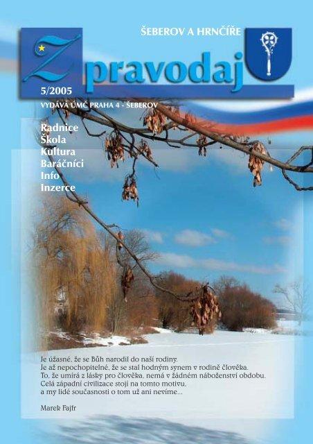 ŠEBEROV A HRNÈÍØE 5/2005 Radnice Škola Kultura Baráèníci Info ...