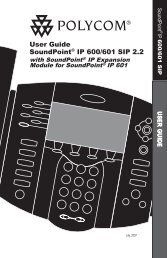 User Guide SoundPoint® IP 600/601 SIP 2.2 - Polycom Support