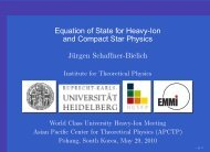 Equation of State for Heavy-Ion and Compact Star Physics Jürgen ...